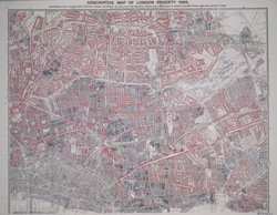 Charles Booth's 'Descriptive Map of  London Poverty'. Detail showing the City of London and the East End